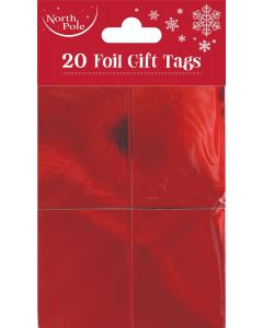 20 Red Foil Tags - Charity Christmas Gifts & Decorations
