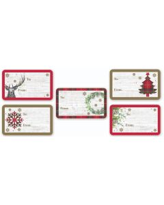 50 Gift Label Stickers - Charity Christmas Gifts & Decorations
