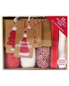 Tag & Ribbon Eco Accessory Box - Charity Christmas Gifts & Decorations